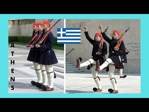 ATHENS: Guard changing at 🏛️ Syntagma Square, let's watch!