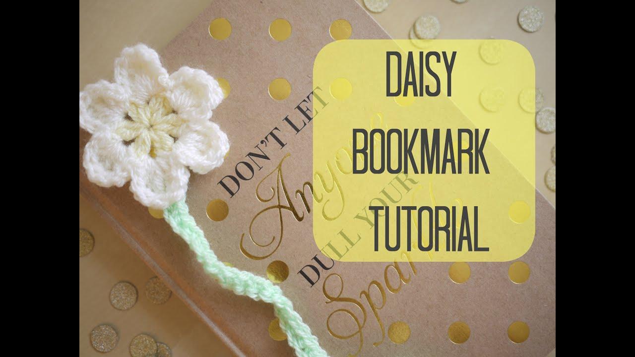 CROCHET: How to crochet a Daisy bookmark | Bella Coco - YouTube