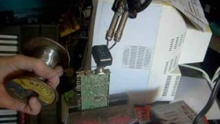 Repairing antenna connectors on TVs