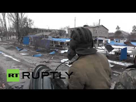 Ukraine: Watch DNR fighters tow T-72 TANK near surrounded Debaltsevo