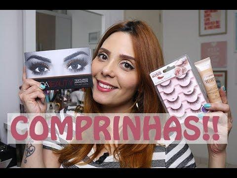 Compras de MAKE: Maybelline, Huda Beauty, Tarte e Cover Girl!!! | Claudinha Stoco