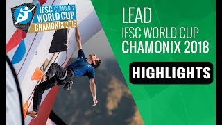 IFSC Climbing World Cup Chamonix 2018 - Lead Finals Highlights
