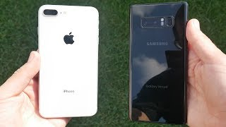 iPhone 8 Plus vs Galaxy Note 8 Speed Test!
