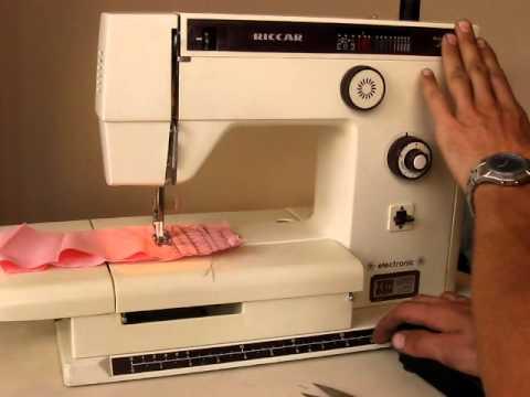 Sewing machine Швейная машина Riccar 906E test хб ткань ...