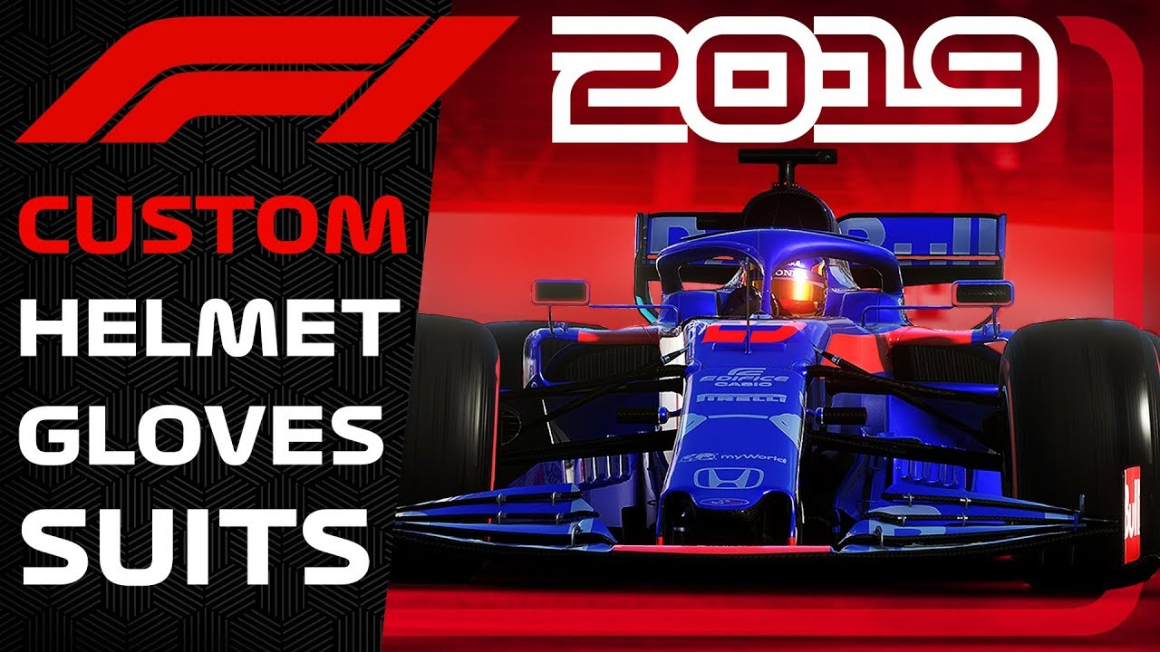 F1 2019 GAME   CUSTOM GLOVES, SUITS, HELMETS, BADGE & THEATRE MODE