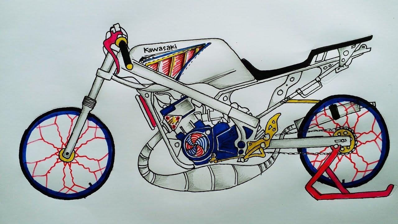 Cara Menggambar Motor Drag Kumpulan Motor Drag Motor Cross