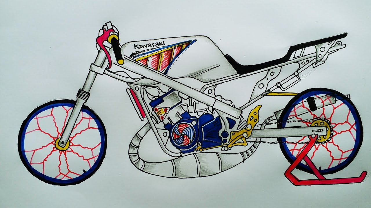 Gambar Joki Drag Satria F 200cc Bukan Kaleng Kaleng Masuk Pak Eko