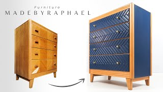 MID CENTURY DRESSER MAKEOVER / Furniture restoration