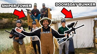 Epic DOOMSDAY Paintball in My BACKYARD!!! (Defend The Bunker)