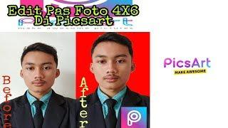 Tutorial Cara mengedit pas foto 3x4 di Android By Picsart