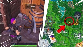 Find 5 Lost Spray Bottles ? Challenges Week 2 Season X Fortnite Shoots and Paints