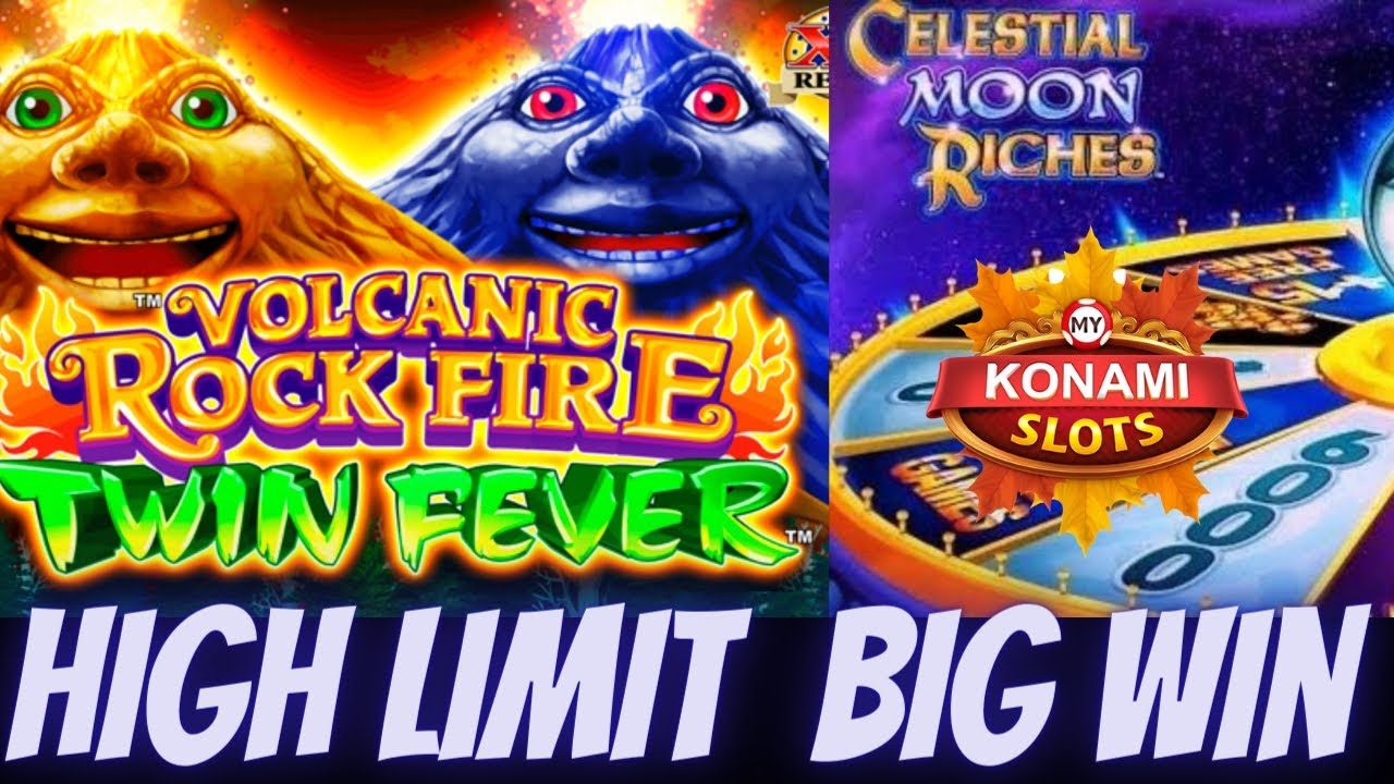 Download NICE WIN ON KONAMI MACHINE VOLCANIC ROCK FIRE TWIN FEVER AND CELESTIAL MOON RICHES SLOT MACHINE LIVE