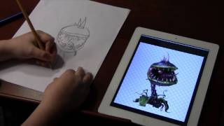 How to draw a chomper from Plants vs. Zombies