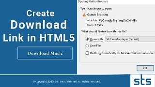 How to Create Download Link in HTML5 | Making Direct Downloadable Button for Any File Type