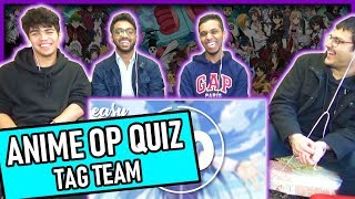 Guess The Anime Opening! Tag Team Rematch! Anime Challenge Reaction! #7