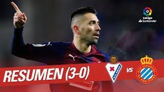 Resumen de SD Eibar vs RCD Espanyol (3-0)