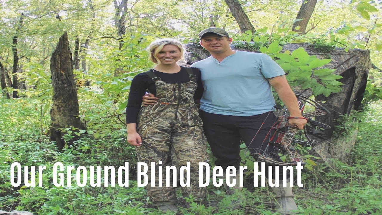 the for blind outdoor justin martin blinds ground channel hunting on a with watch from tips season bow