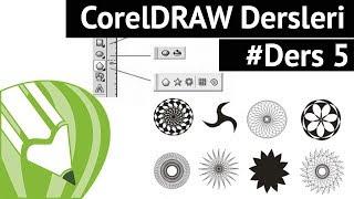 Corel Draw ile Grafik Tasarım - İleri Geometrik Şekillerin Çizimi #Ders5