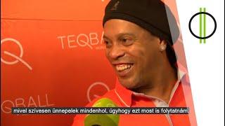 A Teqball nagykövet Ronaldinho Budapesten