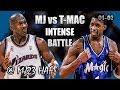 Michael Jordan vs Tracy McGrady Highlights Wizards vs Magic (2001.12.01)-41pt, Instense Face Off!