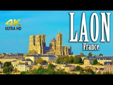 Laon France in 4K. Laon Cathedral. Chapelle des Templiers. Laon's Ramparts. Porte d'Ardon