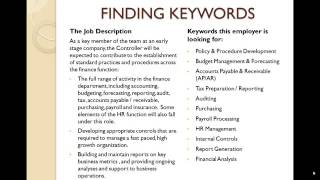 Finance and Accounting Resume Training