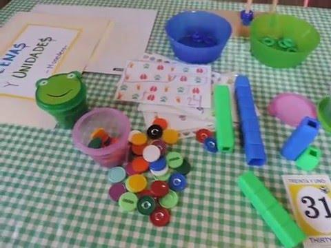 Decenas y unidades - preescolar homeschool