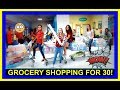 GROCERY SHOPPING FOR 30! | GROCERY HAUL!