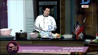 النص الحلو|الماكولات البحرية  ( سمكة حارة بيروتية )+( برياني بالجمبري ) مع الشيف