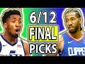 NBA Picks Today DRAFTKINGS NBA PICKS Saturday June 12th NBA Betting Picks 2021