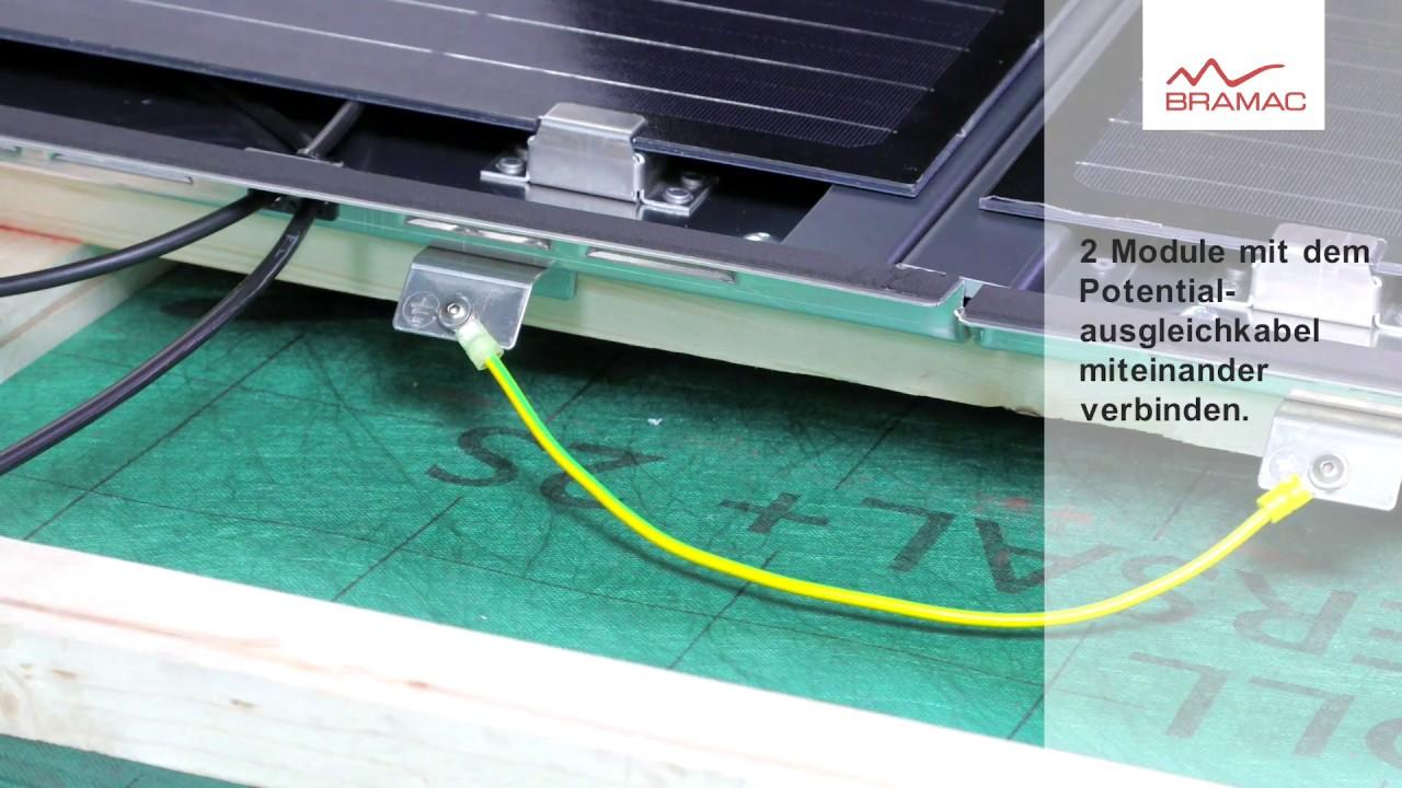 Bramac Photovoltaik Premium System - Verkabelung - YouTube