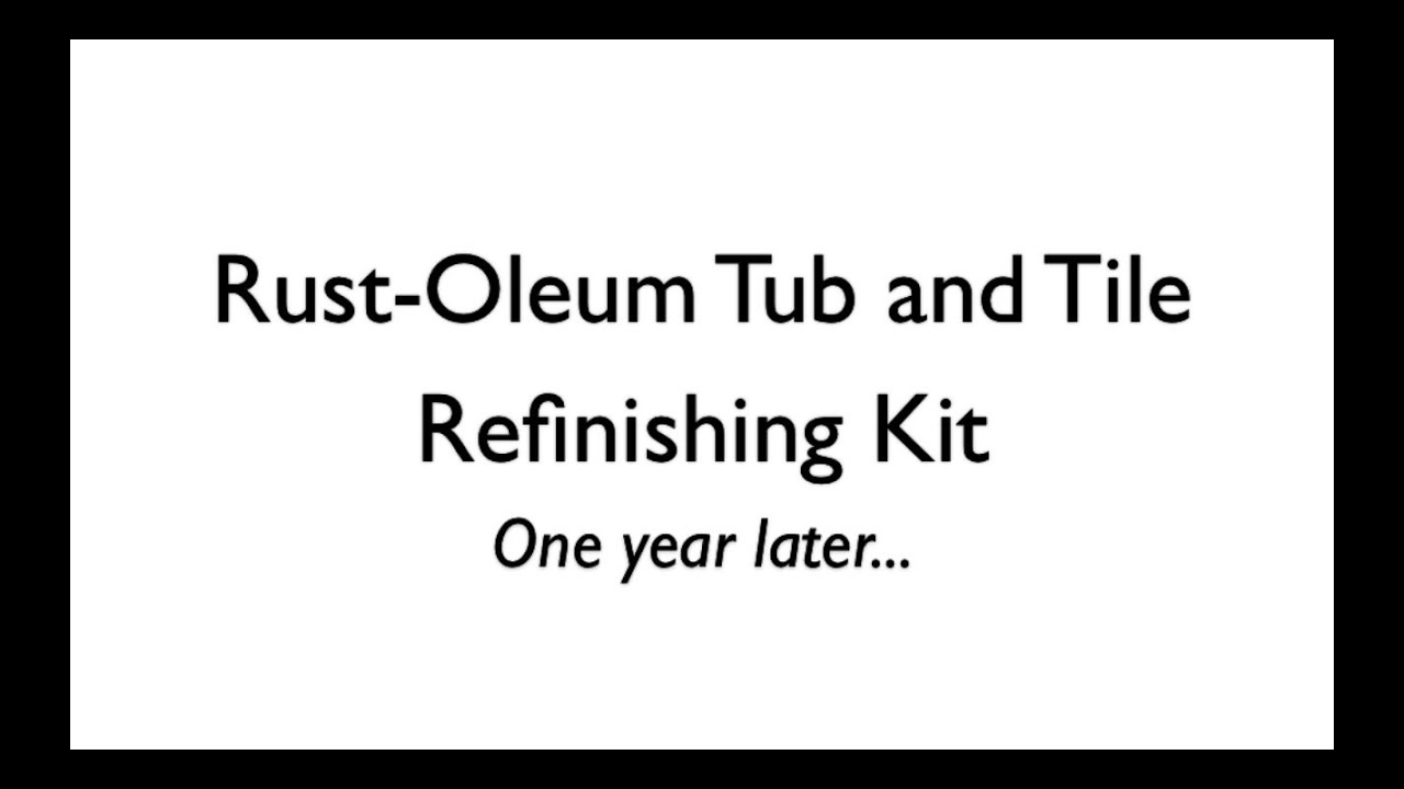 Rust Oleum Tub and Tile Refinishing Kit, follow-up | Ask Anna - YouTube