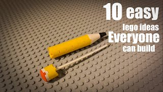 10 easy lego ideas