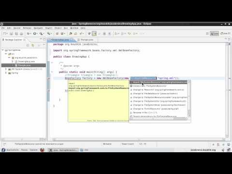 Spring Tutorial 04 - Writing Code Using the Bean Factory