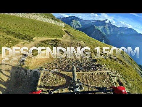 DESCENDING 1500 METRES - Bikepark Les Deux Alpes   666 to Venosc -subtitled-