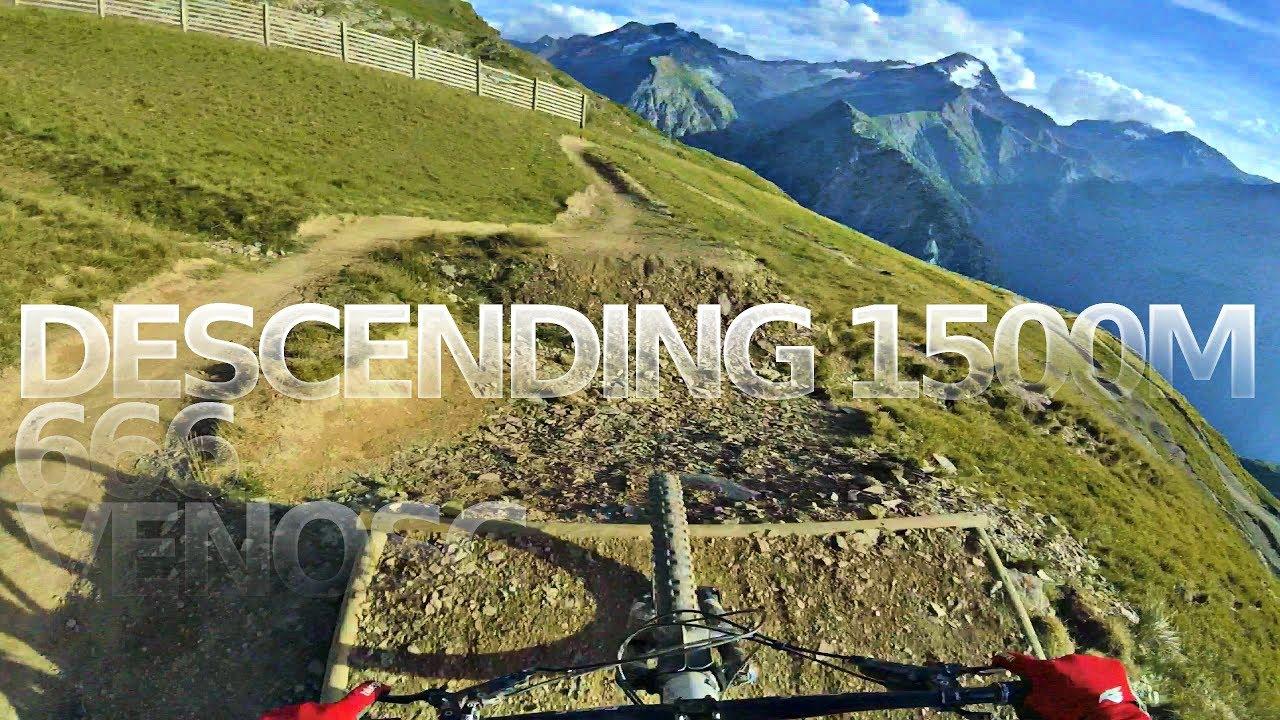 DESCENDING 1500 METRES Bikepark Les Deux Alpes 666 to Venosc