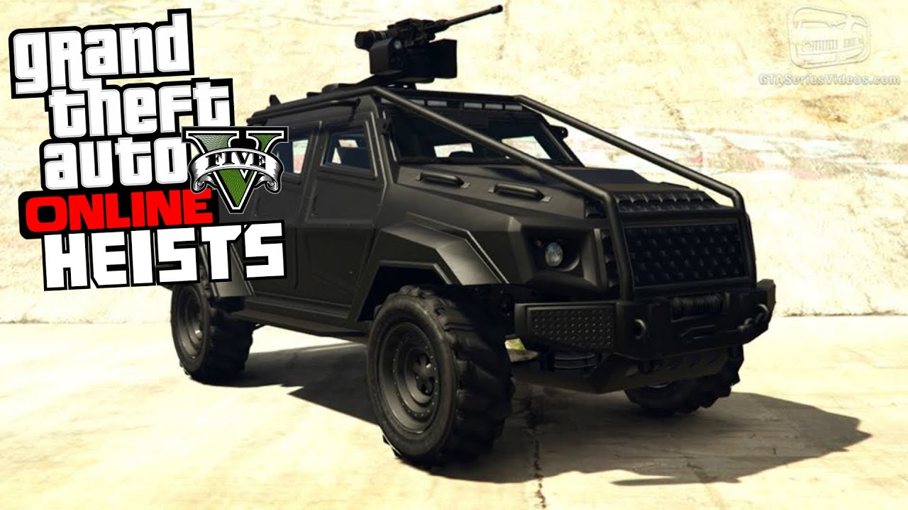 gta 5 online heists the insurgent with mounted heavy