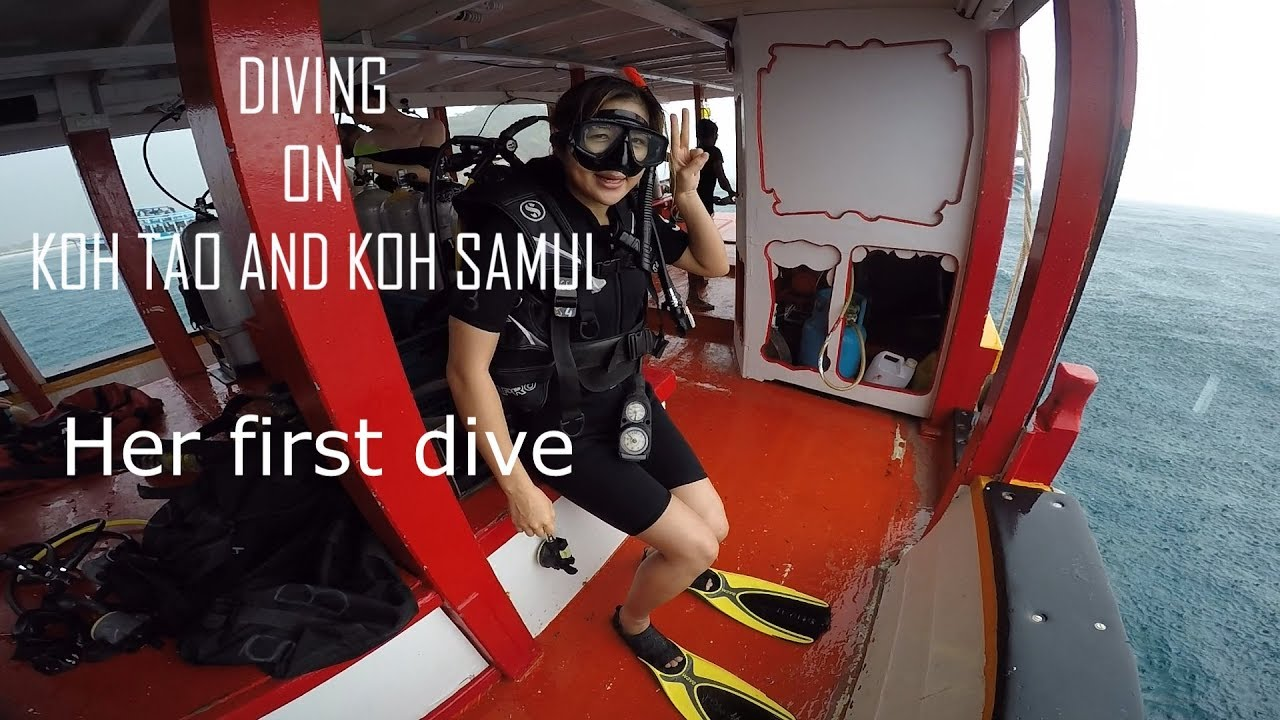 Diving in Koh Tao and Koh Samui - first dive!