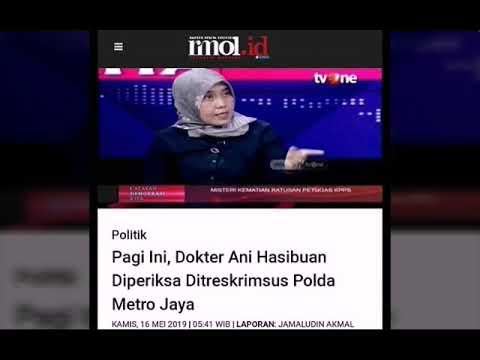 Dr Ani Hasibuan dipanggil polisi karena pernyataan kritisnya dinilai menyinggung sara
