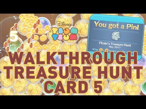 Disney Tsum Tsum: Walkthrough Pirates Treasure Hunt Event Card 5 And How To Get The Silver Pin