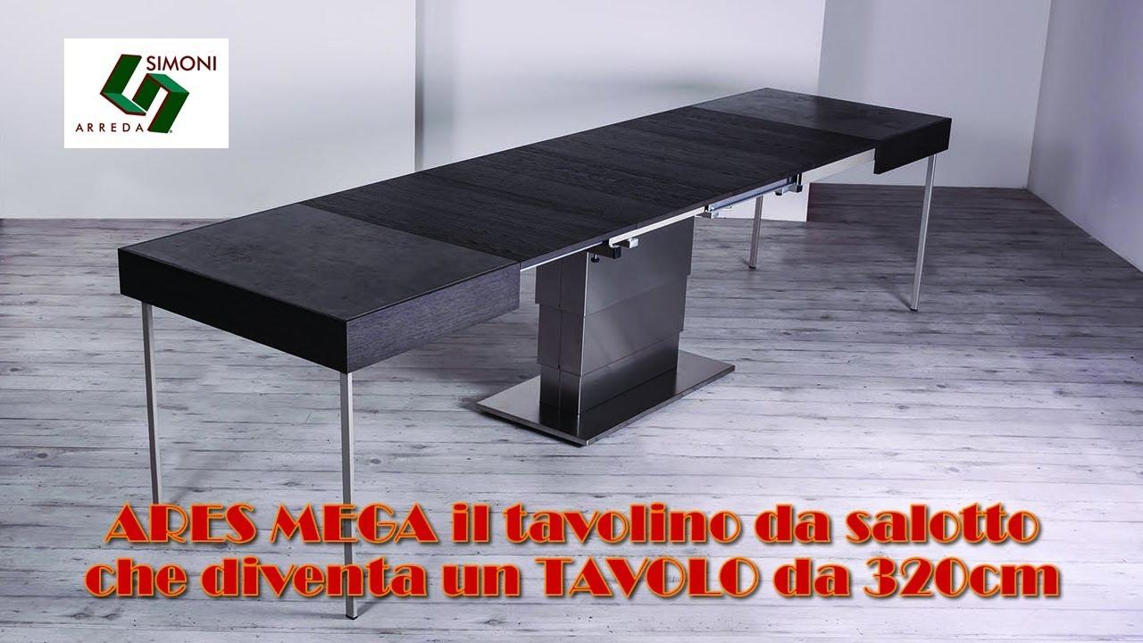Tavolino Trasformabile In Tavolo Da Pranzo.Ares Mega Tavolino Trasformabile In Tavolo Da Pranzo Da 320 Cm
