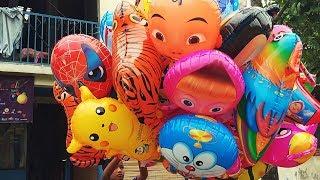 balon helium karakter minions pokemon masha upin ipin doraemon dll