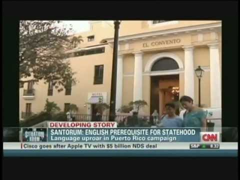 Santorum: English prerequisite for Puerto Rico statehood (March 15, 2012)