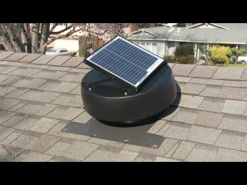The Solar Powered Attic Fan From U.S. Sunlight Corp