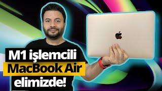 M1 işlemcili MacBook Air kutusundan çıkıyor