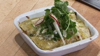 Potato And Swiss Chard Enchilada With Jicama Slaw