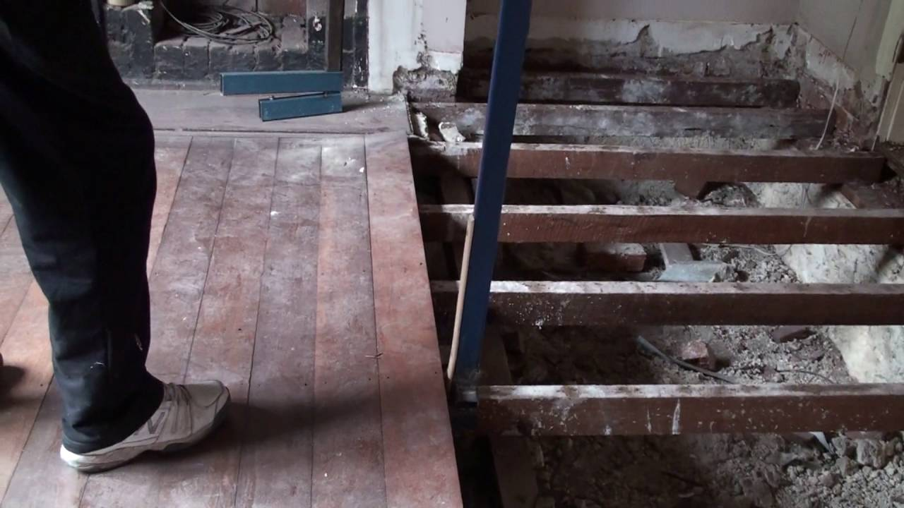 Tongue And Groove Floor Board Removal Youtube