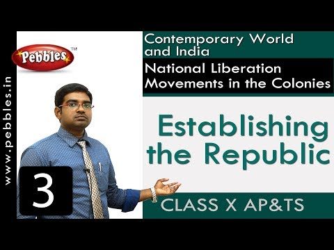Establishing the Republic | National Liberation Movements | Social Science | Class 10
