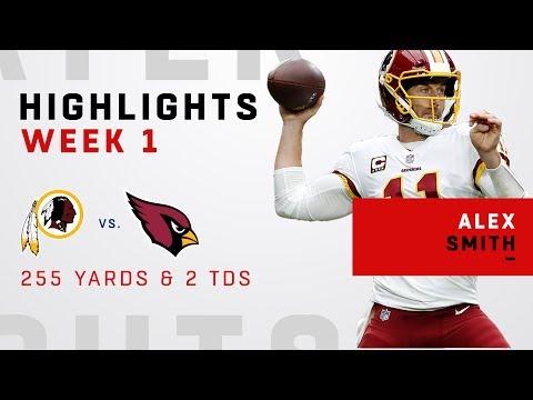 Alex Smith's 255 Yards & 2 TDs in Debut w/ Redskins
