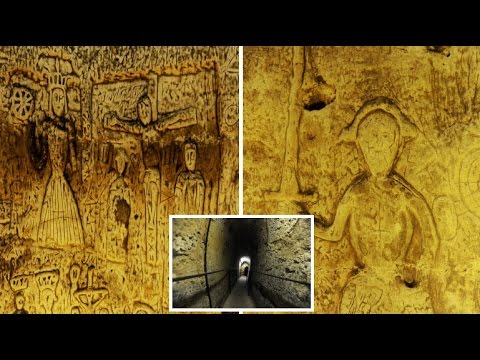Thumbnail: Medieval carvings found in 800 year old Knights Templar cave hidden beneath a crossroads